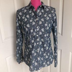 🎀J CREW🎀 Perfect Shirt Chambray Button Down
